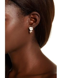 Bee Ear Cuff & Flower Stud Earrings