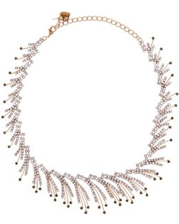 Pave Curved Multi-strand Collar Necklace