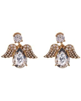 Embellished Angel Stud Earrings