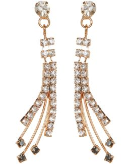 Multi-strand Pave Drop Earrings