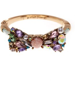 Embellished Bow Hinge Bangle