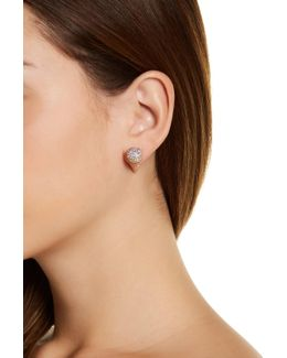 Pave Cone Front To Back Stud Earrings