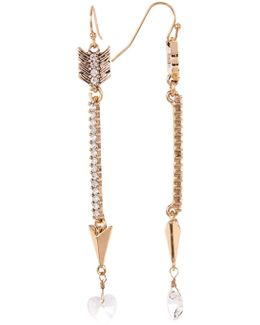 Pave Arrow Drop Earrings