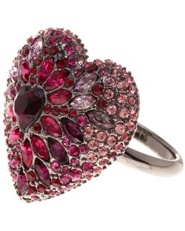 Pave Heart Ring - Size 7