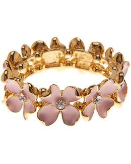 Cz Floral Stretch Bracelet