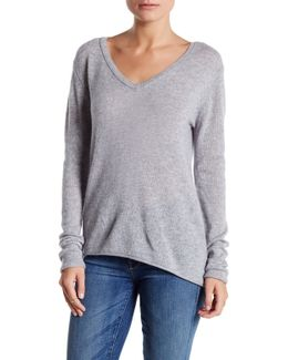 Sheer Cashmere Long Sleeve Sweater