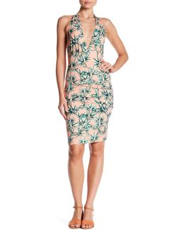 Pleated Halter Dress