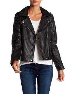 Missy Leather Side Lace Jacket