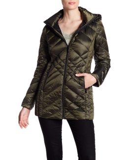 Missy Mid Zip Front Padded Jacket