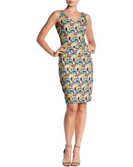 Floral Print Tuck Dress