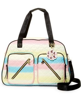 Floral Cargo Weekend Bag