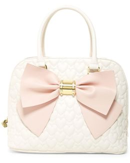Quilted Heart Multi-compartment Dome Satchel