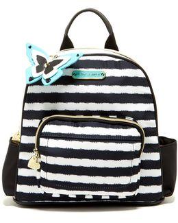 Medium Faux Fur Key Fob Nylon Backpack