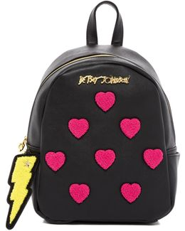 Collegiate Heart Medium Backpack