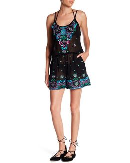Embroidered Romper Cover Up