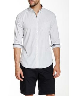 Striped Long Sleeve Slim Fit Shirt