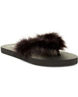 Boa Faux Fur Flip-flop