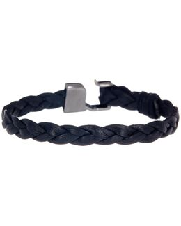 Braided Leather Hook Bracelet