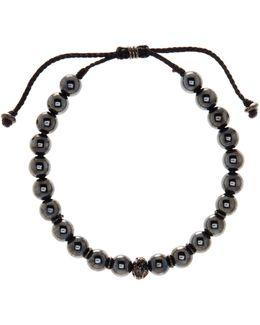 8mm Hematite Beaded Cord Bracelet