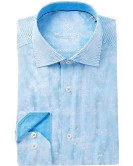 Twill Trim Fit Dress Shirt