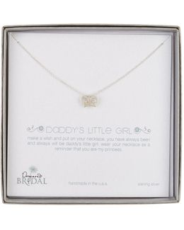Sterling Silver Bridal Daddy's Little Girl Necklace