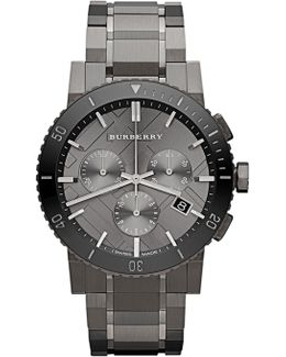 Men's Gunmetal Ip Tone Stainless Steel Chronograph Watch