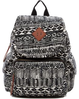 Jersey Aztec Print Backpack
