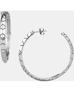 Engraved Hoop Earrings