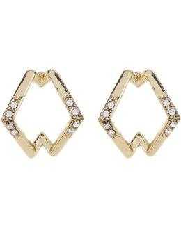 Crystal Detail Sound Wave Stud Earrings