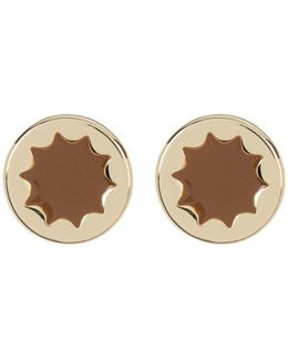 Enamel Sunburst Stud Earrings