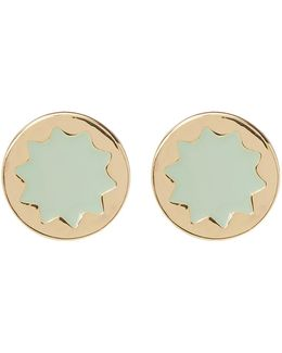 Enamel Sunburst Stud Earrings