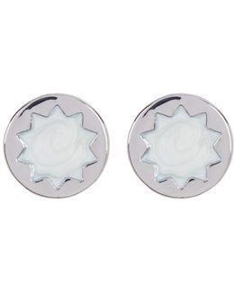 Imitation Pearl Sunburst Stud Earrings
