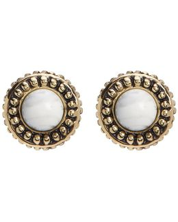 Cuzco Howlite Stud Earrings