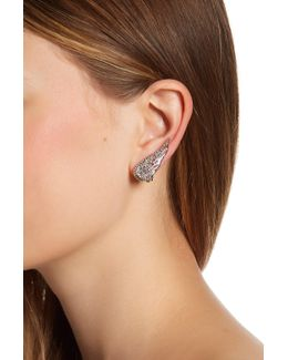 Embellished Angel Wing Clip-on Earrings