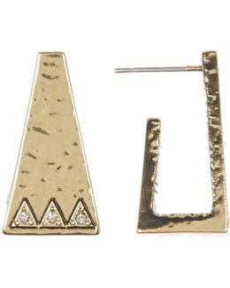 Pyramid Cuff Stud Earrings