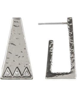 Pyramid Cuff Stud Earrings