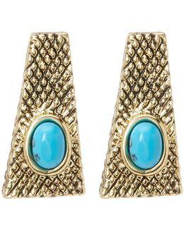 Tanta Crosshatch Stud Earrings