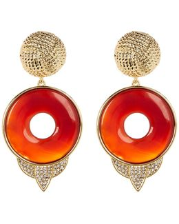 Drop Carnelian Statement Earrings