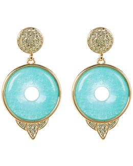 Drop Amazonite Small Earrings