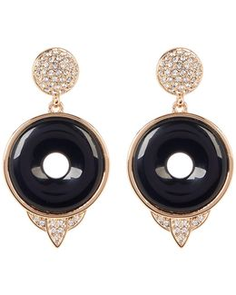 Drop Black Onyx Small Earrings