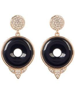 Drop Black Onyx Small Earrings
