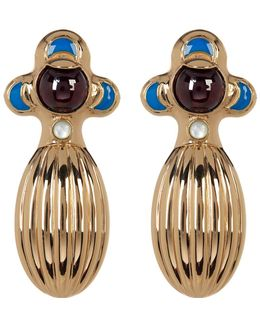 Dinka Garnet Earrings