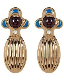 Dinka Garnet Earrings