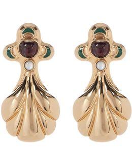 Small Garnet Accented Earrings