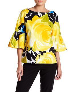 September Floral Bell Sleeve Shirt