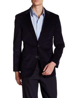 Cord Two-button Suede Patch Sport Coat