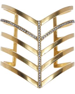 Veronica Pave 5 Row Pointed Cuff