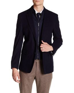Moleskin Insert Two Button Notch Lapel Suit Separates Jacket