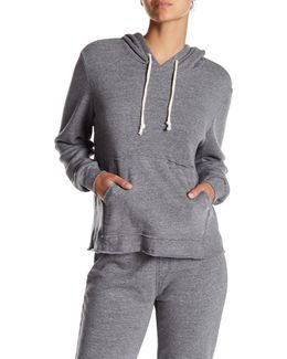 Eco Fleece Raw Edge Hoodie