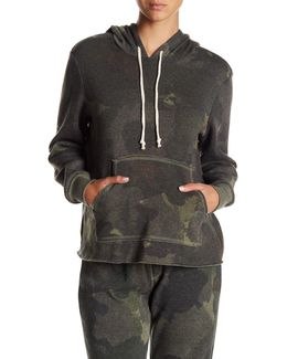 Eco Fleece Camo Raw Edge Hoodie